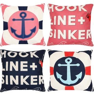 Decorative Nautical Anchors Pillow Covers